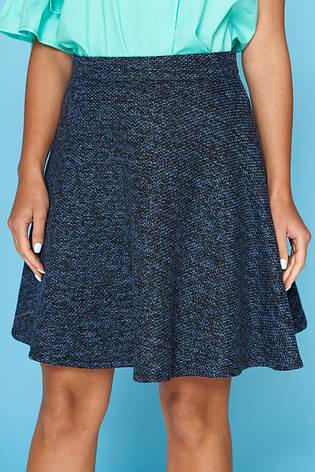 "Теплая короткая юбка ""Пандора"" (цвет - джинс, размер - S), фото 2"