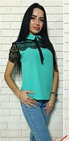 Блузка с кружевом  костр7785, фото 1