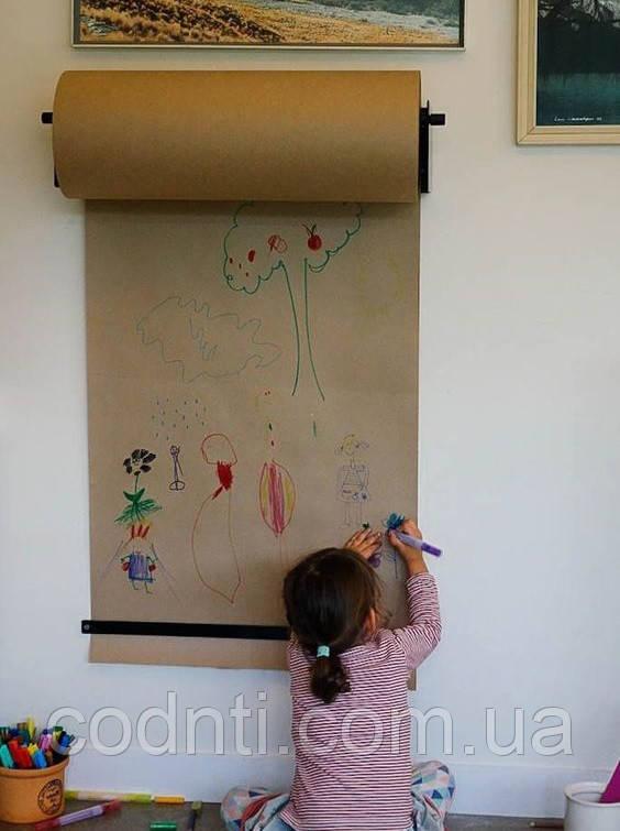 Бумага для детского творчества в рулонах, размотка рулонов разной длины