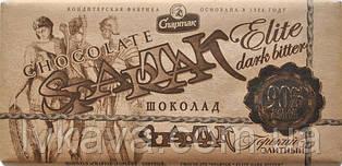 Черный  шоколад Спартак горький Элитный 90 % ,крафт,  90 гр
