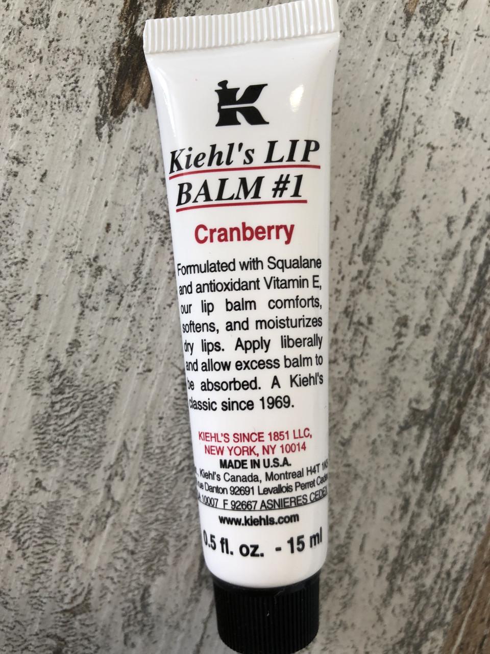 Супер-увлажняющий бальзам для губ c клюквой KIEHL'S Lip Balm #1
