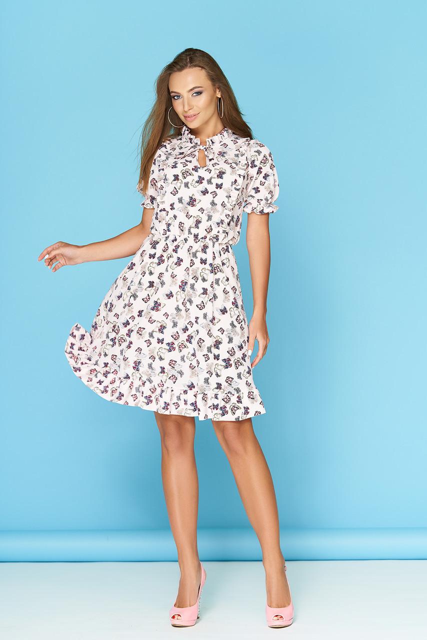 """Легкое летнее платье """"Ясмина 16"""" со стильным принтом"""
