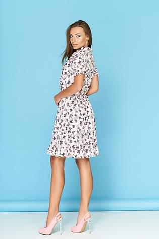 """Легкое летнее платье """"Ясмина 16"""" со стильным принтом, фото 2"""