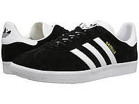 Мужские кроссовки Adidas Gazelle Foundation Black РЕПЛИКА, фото 1