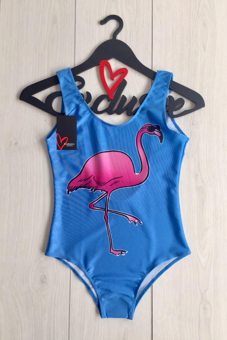 Модный сдельный купальник женский с фламинго, сдельный купальник