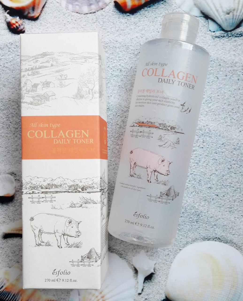 Тонер с коллагеном Esfolio Collagen Daily Toner