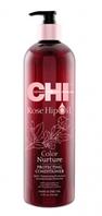 Защитный кондиционер для окрашенных волос / CHI Rose Hip Oil Color Nurture Protecting Conditioner 350 мл