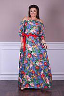 Летнее нарядное платье в пол в размерах 48-54, фото 1