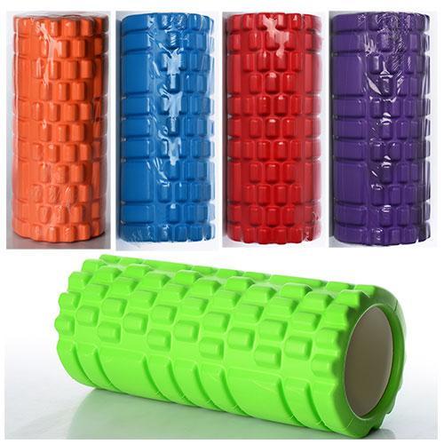 Масажер MS 0857, рулон для йоги, ЕVA, розмір 33-14см, 5 кольорів