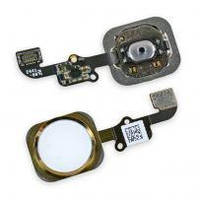 Шлейф для iPhone 5S/SE, с кнопкой меню (Home) и белой пластиковой накладкой, фото 1
