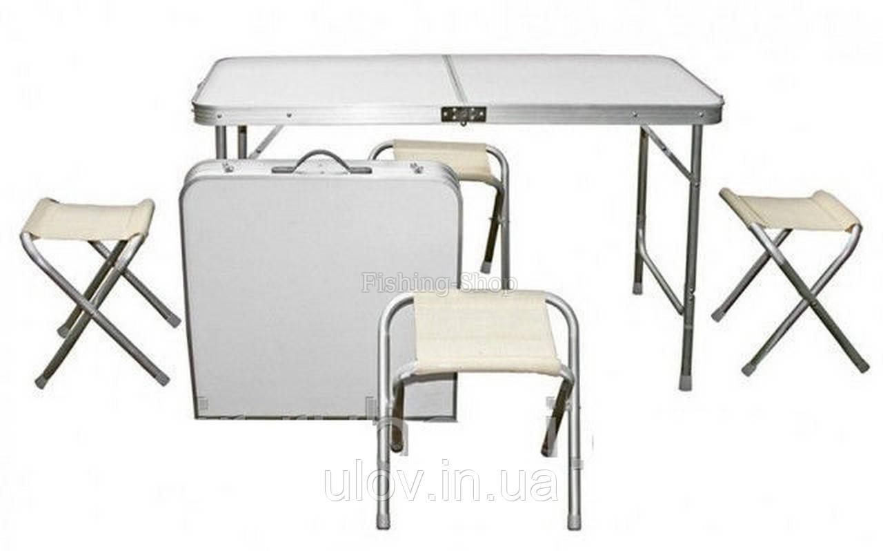 Набор туристический складной  (стол + 4 стула)