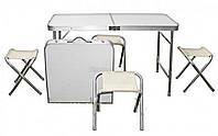 Набор туристический складной  (стол + 4 стула), фото 1