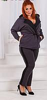 Костюм женский  брюки и жакет в большом размере, фото 1