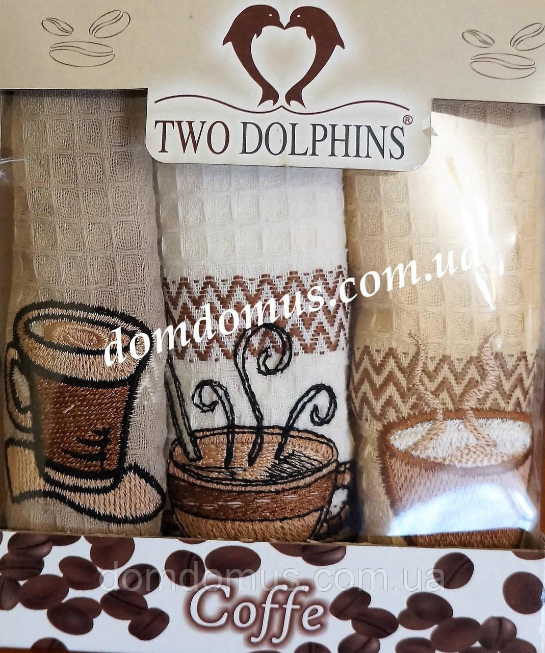 """Набор кухонных полотенец """"Cofe"""" 30*50 см TW DOLPHINS 6 шт., Турция 034"""