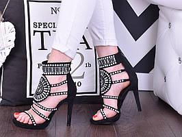 Качественные, стильные босоножки на каблуке от польского производителя 41