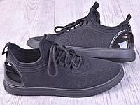 Текстильные модные женские кроссовки на шнуровке, фото 1