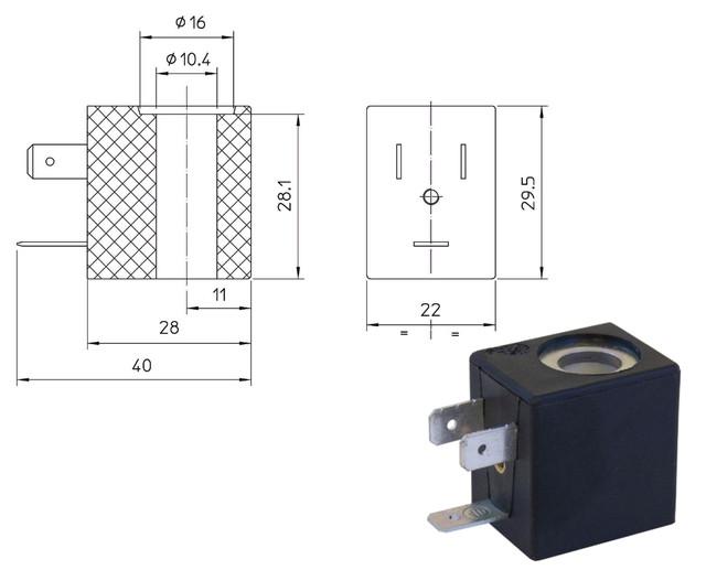 Электромагнитная катушка LBA (ODE, Italy)