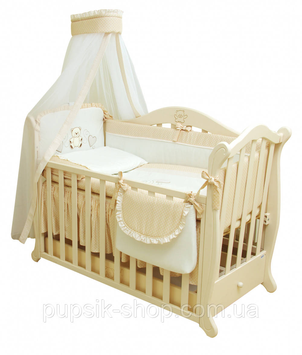 Детская постель Twins Romantik Горошки R-001  (8 элементов)