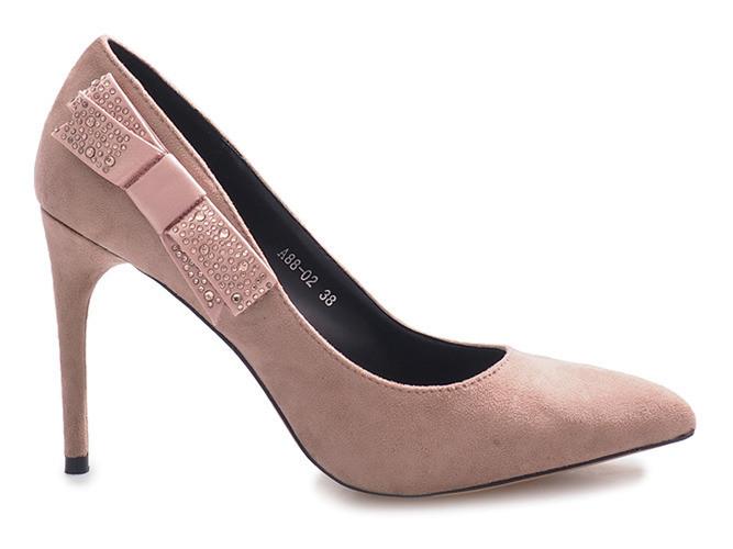 Польские качественные женские туфли на очень удобном каблуке