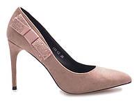 Польские качественные женские туфли на очень удобном каблуке, фото 1