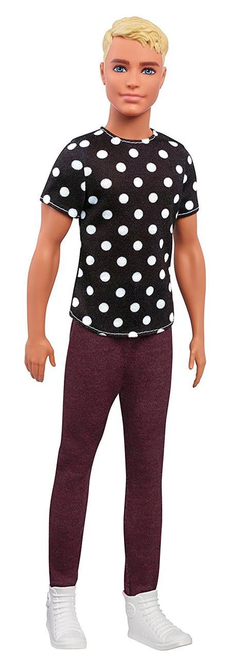 Кен Модник в черно/белой футболке Barbie Fashionistas In Black & White Ken Doll