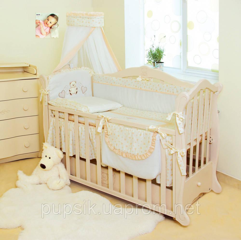 Детская постель Twins Romantik Сердечки R-002  (8 элементов)