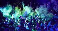 Краска Холи (Неон), Фарба Холі, Краска которая светится в Ультрафиолете пакет 100 грам, фото 1