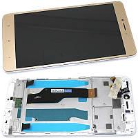 Дисплей (экран) для Xiaomi Redmi Note 4X + тачскрин, золотистый, с передней панелью