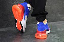 Летние мужские кроссовки Nike Air Max 270,белые с синим, фото 3