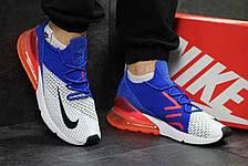 Летние мужские кроссовки Nike Air Max 270,белые с синим, фото 2