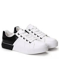 Спортивная удобная обувь, кроссовки, кеды, чёрно белого цвета