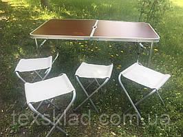 Туристичний стіл для кемпінгу + 4 стільця