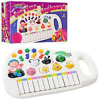 Пианино M 0381 U/Rмуз, звуки животных,  свет, на бат-ке, в кор-ке28-17,5-6 см