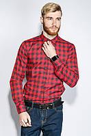 Рубашка мужская клетка принт 333F012 (Сине-красный)