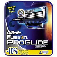Сменные кассеты для бритья 4 шт Fusion ProGlide (Original) - Gillette, фото 1