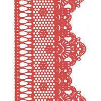 Декор кондитерський Добрик Мереживо для торта №2 червоне 10 шт./ящ.