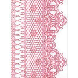 Декор кондитерський Добрик Мереживо для торта №2 рожеве 10 шт./ящ.