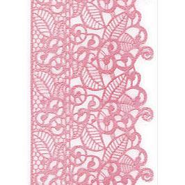 Декор кондитерський Добрик Мереживо для торта №3 рожеве 10 шт./ящ.