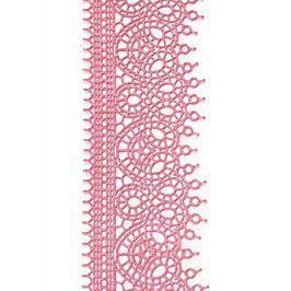 Декор кондитерський Добрик Мереживо для торта №7 рожеве 10 шт./ящ.
