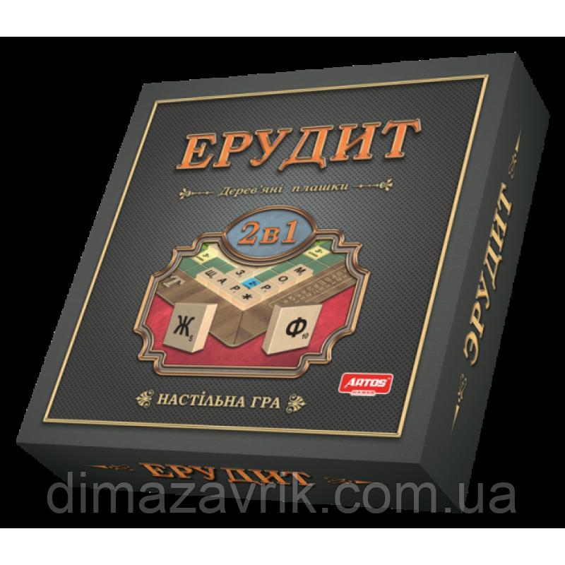 """Настольная игра """"Эрудит"""" 2 в 1"""