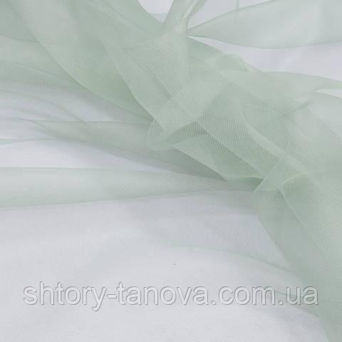 Тюль сетка, изумрудно-зелёный