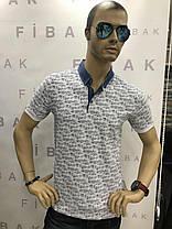 Чоловіча футболка з коміром, фото 2