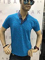 Чоловіча футболка з коміром, фото 3