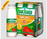 Напиток кисломолочный йогурт Лактонія Имун+ клубника 2,5% 100 гр