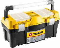 Пластиковый ящик для инструментов topex 79r128 размер 55*27*27 см