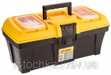 Пластиковый ящик для инструментов topex 79r124 с лотком