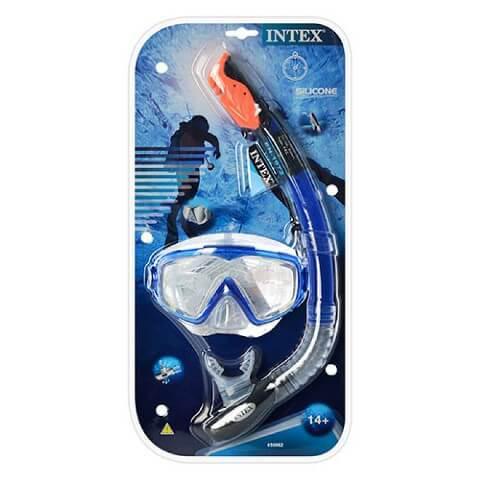 Набор для плавания: маска трубка / профессиональная серия 55962 Intex