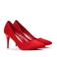 Женские красные туфли на шпильке размеры 40,41