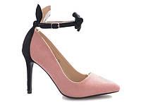 Туфли на каблуке сзади с ушками