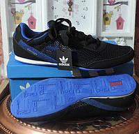 Кроссовки мужские Adidas - натуральная кожа + сетка. Летние кроссовки, реплика